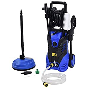 Goplus 3000PSI Electric High Pressure Washer Machine 2 GPM 2000W W/ Deck Patio Cleaner (Blue)