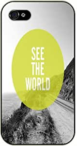 See the world - Road and mountain - Adventurer iPhone 5C plastic case BLACK - (Row 11-B)
