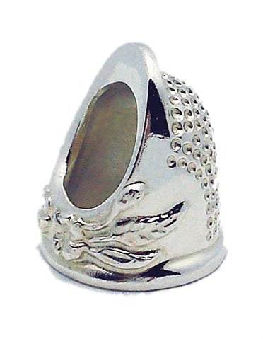 Roxanne Solid Sterling Silver Size 4.5 Thimble by Colonial Needle Co by Roxanne