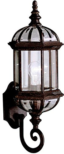 (Kichler 9736TZ, Barrie Cast Aluminum Outdoor Wall Sconce Lighting, 100 Total Watts, Tannery)