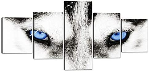 Blue Eye Modern Canvas Print Painting Framed Home Decor Wall Art Picture Poster