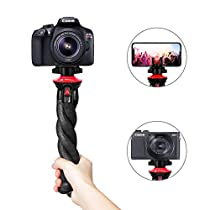 Phone Tripod, Fotopro 12 Flexible Camera Tripod, Durable Waterproof and Anti-Crack, Octopus Tripod for iPhone XS Max X 8 Plus,Samsung S9, Camera Tripod for DSLR GoPro Canon Nikon 360 Camera, Cell Phone Stand Holder for Selfie and Videography(UFO)