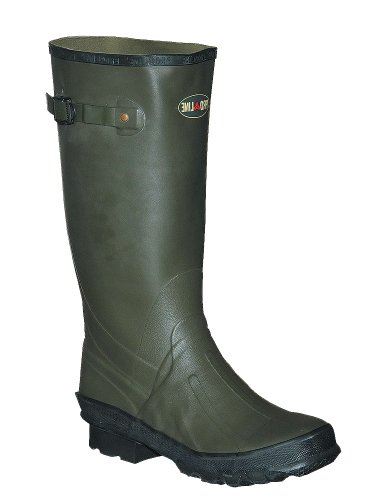 Pro Line Twin River Cleated 2 - Ply Nylon Hip Waders Dark Green, DK GRN, 12M