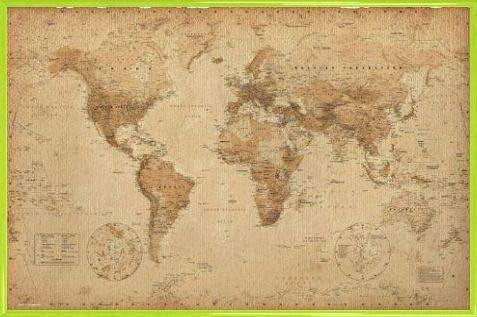 1art1 Mapas Históricos - Mapa del Mundo, Ye Olde, En Inglés Póster ...