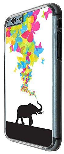 444 - Shabby Chic Cute Elephant Butterflies Trunk Design iphone 6 6S 4.7'' Coque Fashion Trend Case Coque Protection Cover plastique et métal