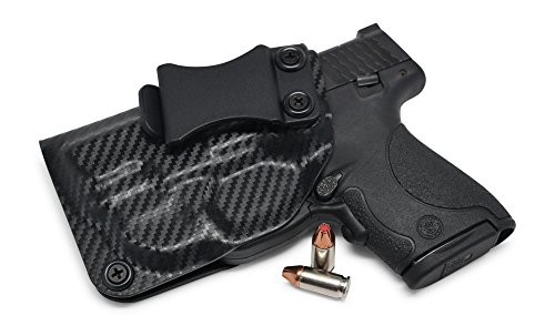 Concealment Express IWB KYDEX Holster: fits Smith & Wesson M&P SHIELD 9/40 w/Green CTC Laser - US Made - Inside Waistband - Adj. Cant/Retention (CF BLK, Left)