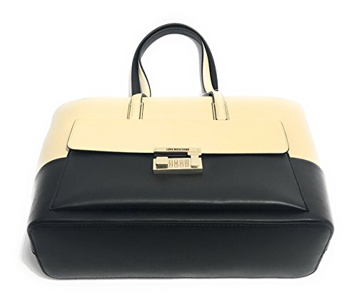 BORSA DONNA LOVE MOSCHINO CALF NERO/ PELTRO BS17MO143