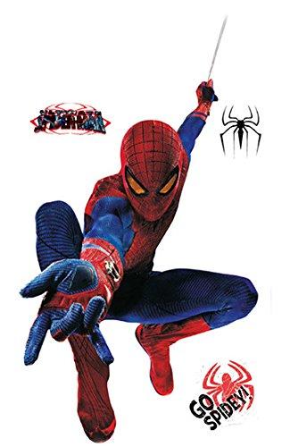 Fangeplus(TM) DIY Removable Super Hero Great Spiderman 3D Art Mural Vinyl Waterproof Wall Stickers Kids Room Decor Nursery Decal Sticker Wallpaper 35.4''x23.6''