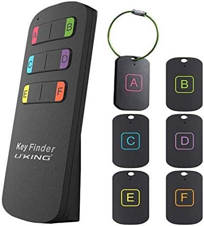 Key Finder UKing 6 in 1 Draadloze Key Tracker RF Item Locator Item Tracker Apparaat met Afstandsbediening Geweldig voor Tracking Keys Portefeuilles Huisdieren Tassen en Verloren Items