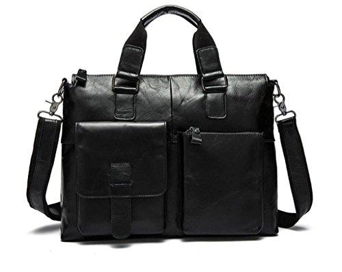 SHOUTIBAO Borsa da uomo in pelle/borsa da uomo d'affari casual/tracolla da uomo/valigetta/borsa a tracolla, 2 1