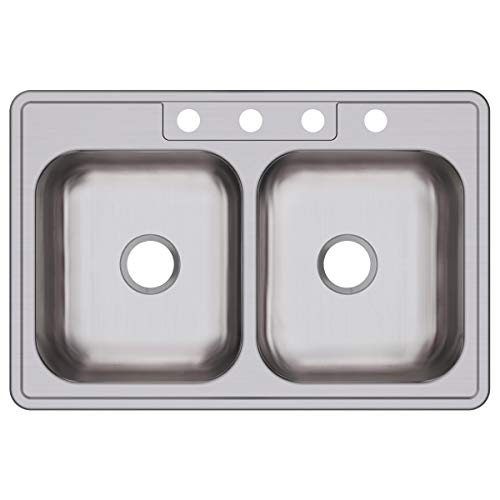 Elkay DXR33224 Dayton Equal Double Bowl Drop-in Stainless Steel Sink