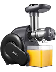 Juicer, Aicok Slow Masticating Juicer with Reverse Function, Juice Machine with Recipe, Cold Press Juicer with Quiet Motor, Juice Jug and Brush for High Nutrient Juice, Easy to Clean, BPA Free