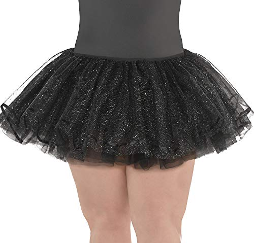 Suit Yourself Black Shimmer Tutu for Adults, Plus Size, Features Black Tulle with a Silver Shimmer and an Elastic Waist