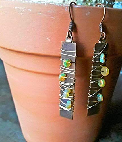 Wrapped Dangle Drop Earrings Copper ()