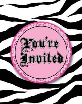 Creative Converting Super Stylish 8 Count Enhanced Party Invitations (Happy Halloween Pink Zebra)
