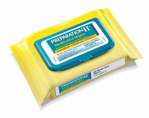 Preparation H Medicated Hemorrhoidal Wipes with Witch Hazel and Aloe ab1tr 12Pack (576-Count Refill Package Total ))