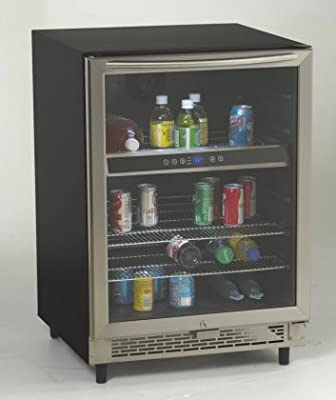 Avanti BCA5448 Beverage Cooler With Glass Door LED Interior Display Lighting with ON/OFF Switch Soft Touch Internal Electronic Control Display for Easy Viewing & In