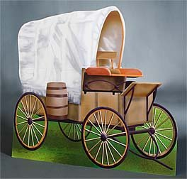 Western Wagon (Min Wild West Covered Wagon Standee Party Prop by Shindigz)