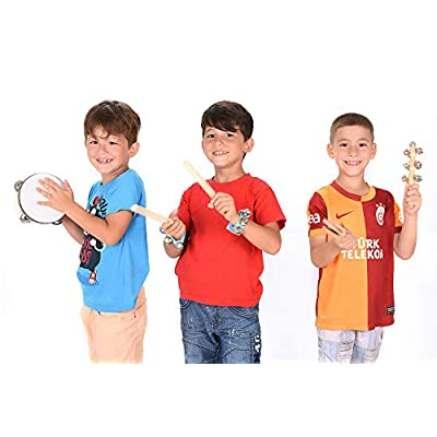 Toddler Educational & Musical Percussion for Kids & Children Instruments Set 18 Pcs – With Tambourine, Maracas, Castanets & More – Promote Fine Motor Skills, Enhance Hand To Eye Coordination,: Toys & Games