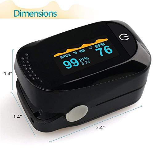 MKROYO Pulsossimetro Saturimetro da Dito Display OLED per Frequenza Del Polso(PR) e La Saturazione di Ossigeno(Spo2) Misure,Monitoraggio del sonno e allarmi oltre il Preset.