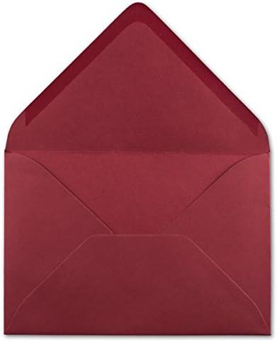 50 Brief-Umschläge - Rosa - DIN C6-114 x 162 mm - Kuverts mit Nassklebung ohne Fenster für Gruß-Karten & Einladungen - Serie FarbenFroh®