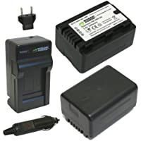 Wasabi Power Battery (2-Pack) and Charger for Panasonic VW-VBL090, VW-VBK180 and Panasonic HC-V10, HC-V100, HC-V100M, HC-V500, HC-V500M, HC-V700, HC-V700M, HDC-HS60, HDC-HS80, HDC-SD40, HDC-SD60, HDC-SD80, HDC-SD90, HDC-SDX1H, HDC-TM40, HDC-TM41, HDC-TM55, HDC-TM80, HDC-TM90, SDR-H100, SDR-H101, SDR-H85, SDR-S50, SDR-S70, SDR-S71, SDR-T50, SDR-T70, SDR-T71, SDR-T76 (2200mAh)