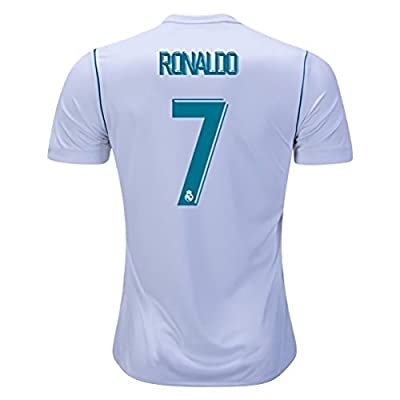 DumeStim 17/18 New Real Madrid Home Ronaldo 7 Soccer Jersey Men's White Size S