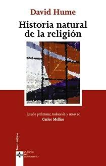 Historia natural de la religión par Hume