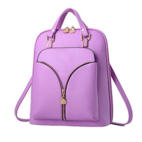 Personalidad De La Moda Bolsa De Hombro De Primavera Y Verano Mochila Mochila De La Mujer Salvaje Paquete Purple