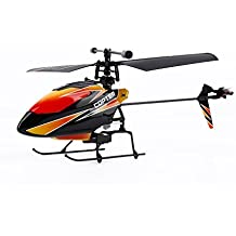 OCDAY WLtoys V911 4 Channels 2.4GHz Mini RC Helicopter Gyro RTF Radio Single Propeller Stunt Copter with 2 Batteries