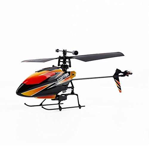 OCDAY WLtoys V911 4 Channels 2.4GHz Mini RC Helicopter Gyro RTF Radio Single Propeller Stunt Copter with 2 (2.4 Ghz Single)
