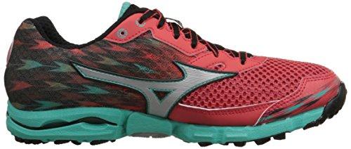 Mizuno Wave Hayate de la mujer 2-W Running Shoe Cayenne Silver