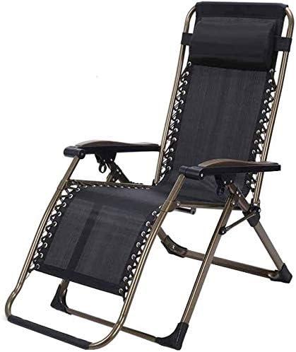 ADHW Reclinable Silla de Playa, Sol Silla Tumbona, Muebles de jardín, Que dobla la Gravedad Cero reclinables, sillas de Ruedas Camping Garden: Amazon.es: Hogar