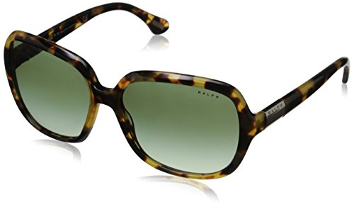 Ralph by Ralph Lauren 0RA5149 504/8E58 Square Sunglasses,Spotty Tort Frame/Green Gradient Lens,One - Lauren Ralph Eyewear