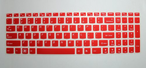 Semi-Red High Quality Ultra Thin Silicone Gel Keyboard Protector Skin Cover for Lenovo IdeaPad Z50, Y50, Y500, Y510P, Essential G50, G500, G500s, G505, G505s, G510, G570, G575, G770, G580, G585, Y70, G710, G700, G780, Flex 15, Flex 2 Series 15.6-Inch Laptop (if your