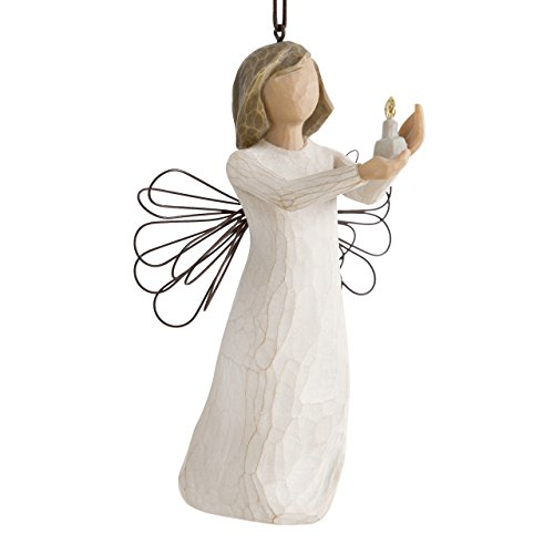 Willow Tree hand-painted sculpted Ornament, Angel of Hope
