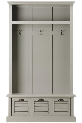 (Home Decorators Collection Shutter Locker Storage, 74H x 42W x 17D, Grey)