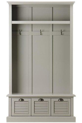 Home Decorators Collection Shutter Locker Storage, 74H x 42W x 17D, Grey