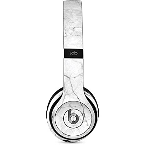 9daa81801bb Amazon.com: Skinit White Marble Beats Solo 2 Wired Skin - Officially  Licensed Originally Designed Audio Decal - Ultra Thin, Lightweight Vinyl  Decal ...