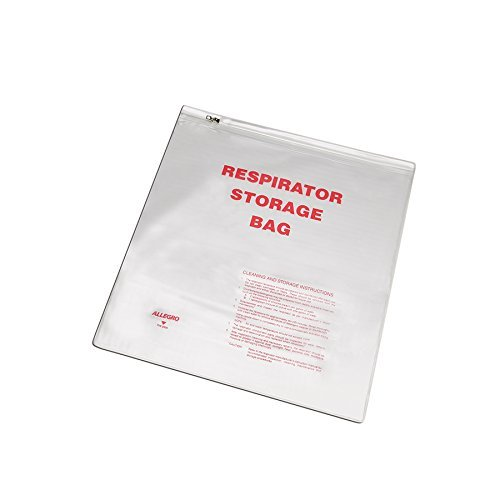 Allegro Industries 2000 Respirator Storage Bag with Zipper, 14 x 16, Large by Allegro Industries by Allegro Industries