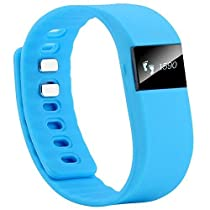 Otmake Bluetooth Smartband Smart Watch Wristband Wrist Band Wrap with Pedometer for Android Phones and IOS Phones (Blue)