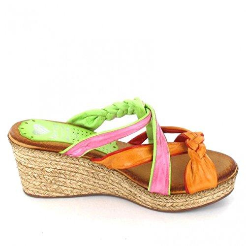Marila Pantolette Multicolor Balsa Natural, Farbe: mehrfarbig Mehrfarbig