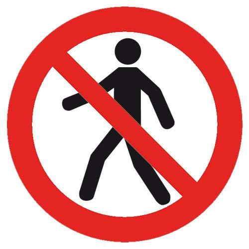 Señal de prohibición Intratec para peatones Prohibido/no ...