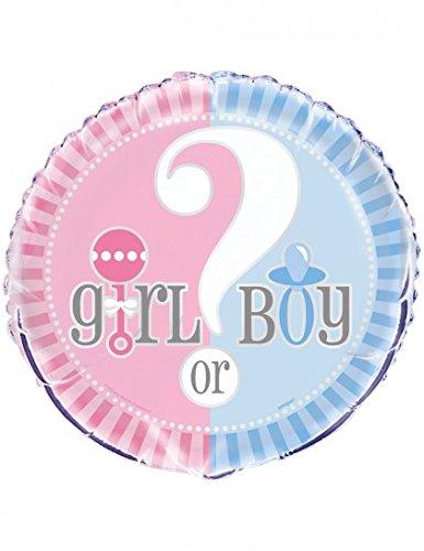 18 baby gender reveal foil pkg Foil Packaged Balloon