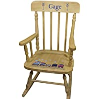Personalized Wooden Train Rocking Chair