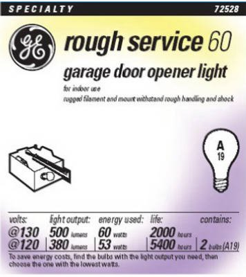 Rough Service Garage Opener Light