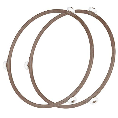 Microwave Oven Inner Dia 8.7Inch Turntable Rotating Turntable Support Roller Ring (2PCS/Brown)