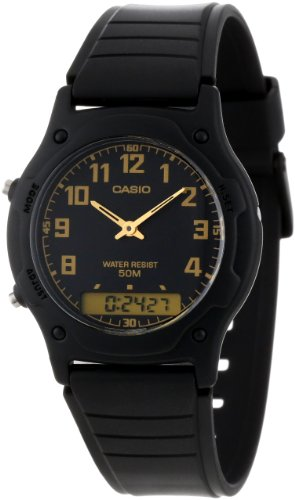 Casio Men's AW49H-1BV Ana-Digi Dual Time Watch ()