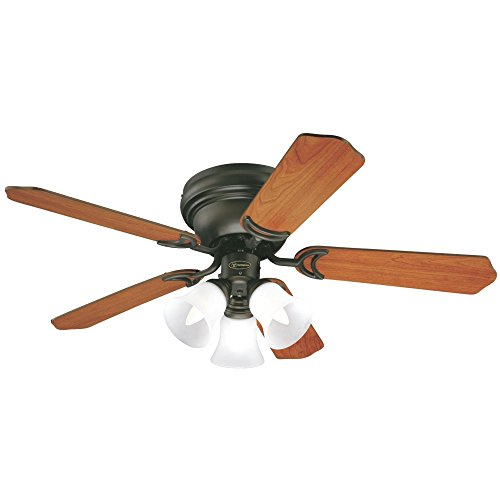 (Westinghouse Lighting 7214900 Contempra Trio 42-Inch Oil Rubbed Bronze Indoor Ceiling Fan, Light Kit with Frosted Glass, Includes Bulbs)