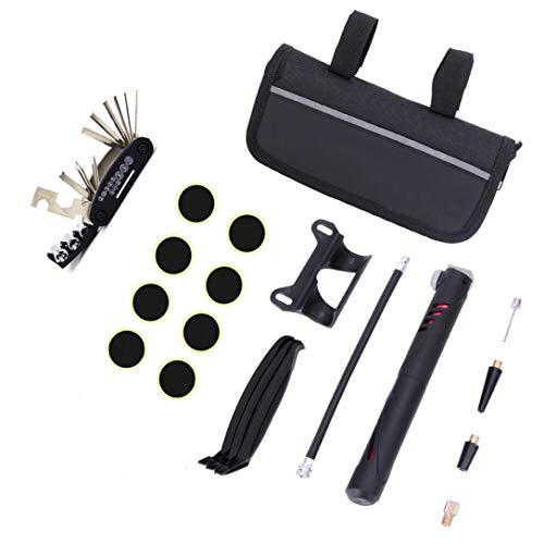 Feccile Sports & Fitness 1 Set Bicycle Repair Multi Tool Kit MTB Mini Tyre Pump Accessory by Feccile S-ports & Fit-ness
